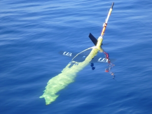 A seaglider in action. Credit: UEA Glider Science
